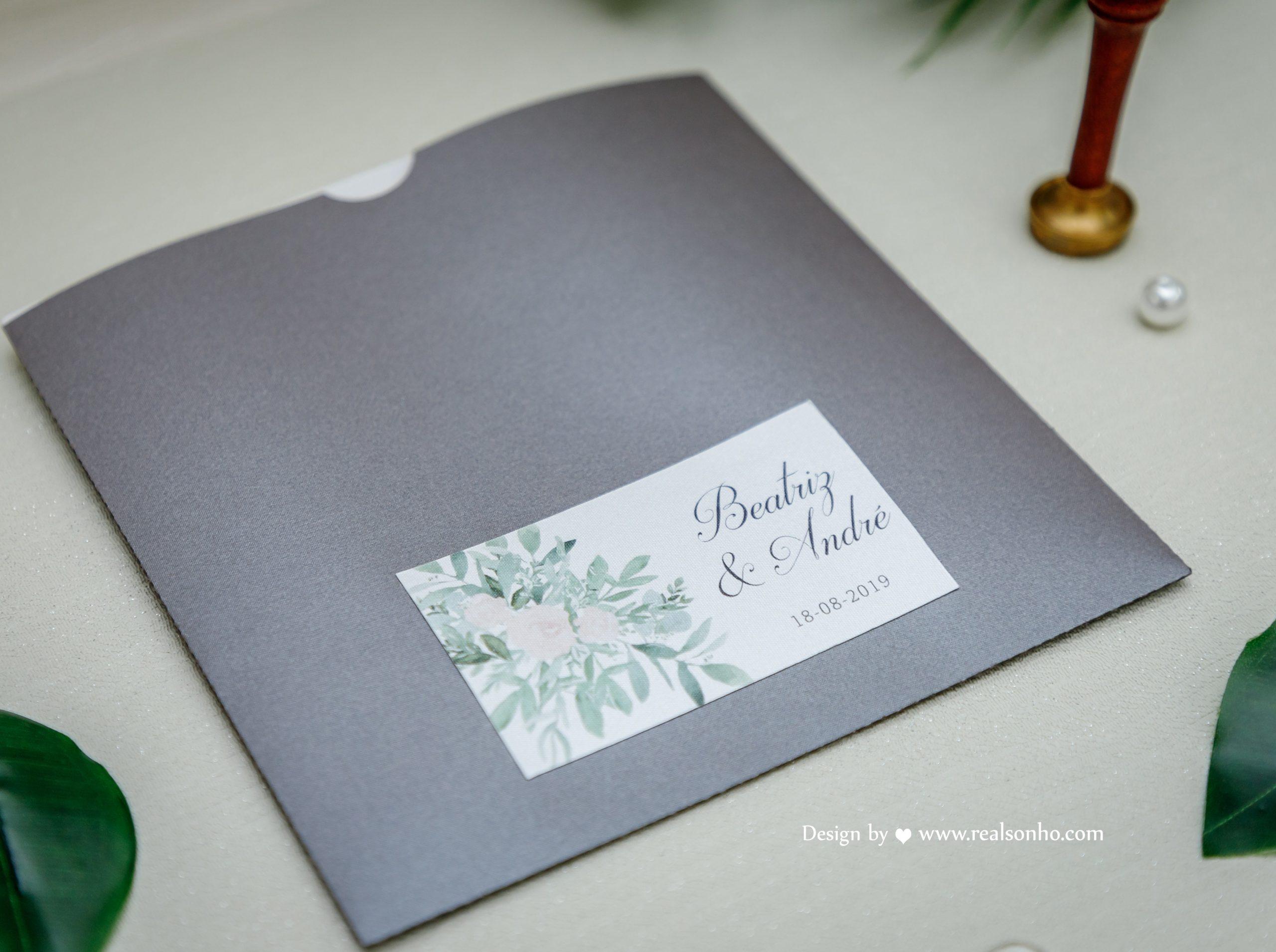 Convite de casamento CS-C062