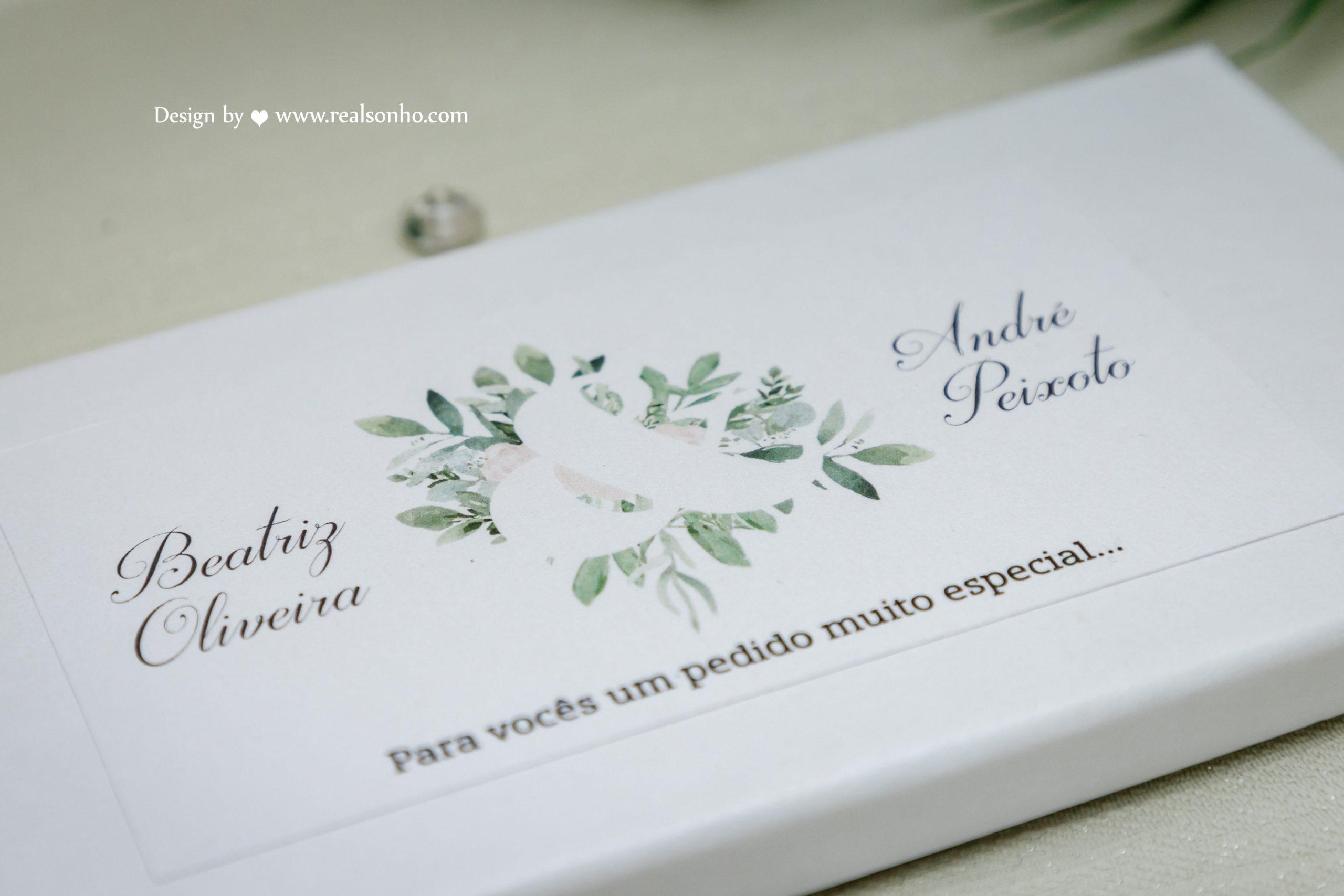 Convite Padrinhos Casamento GREEN CS-CP020