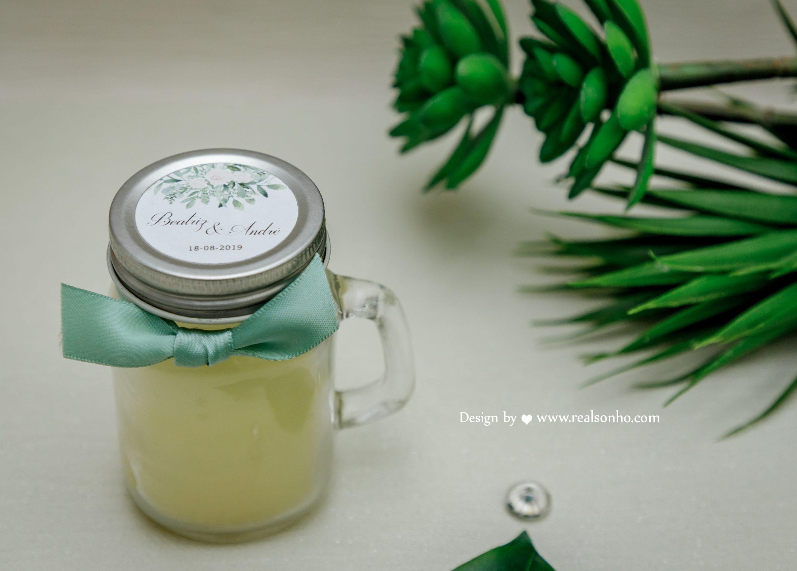 Vela de cheiro personalizada GREEN CS-L047
