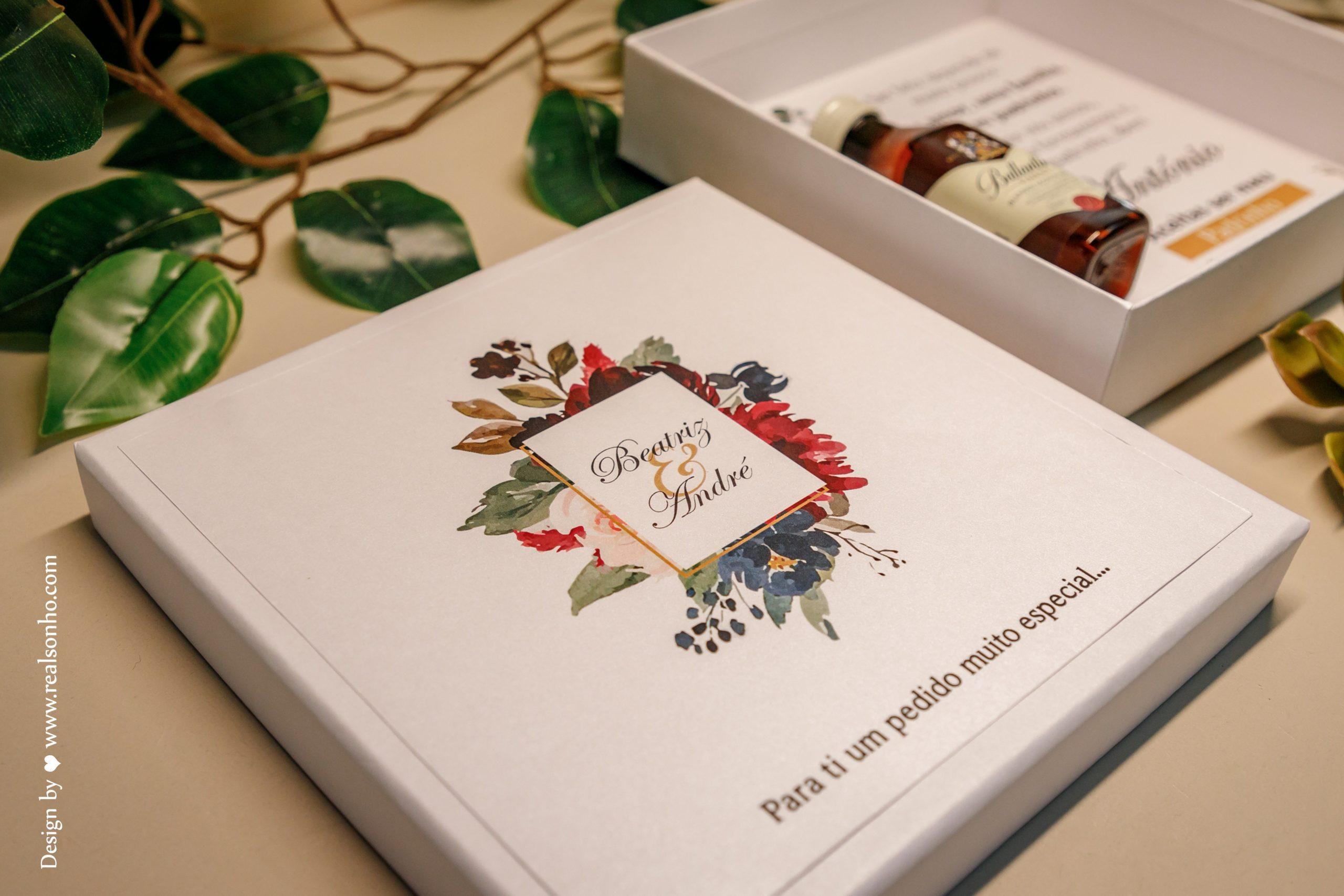 Convite Padrinho de Casamento BURGUNDY CS-CP021