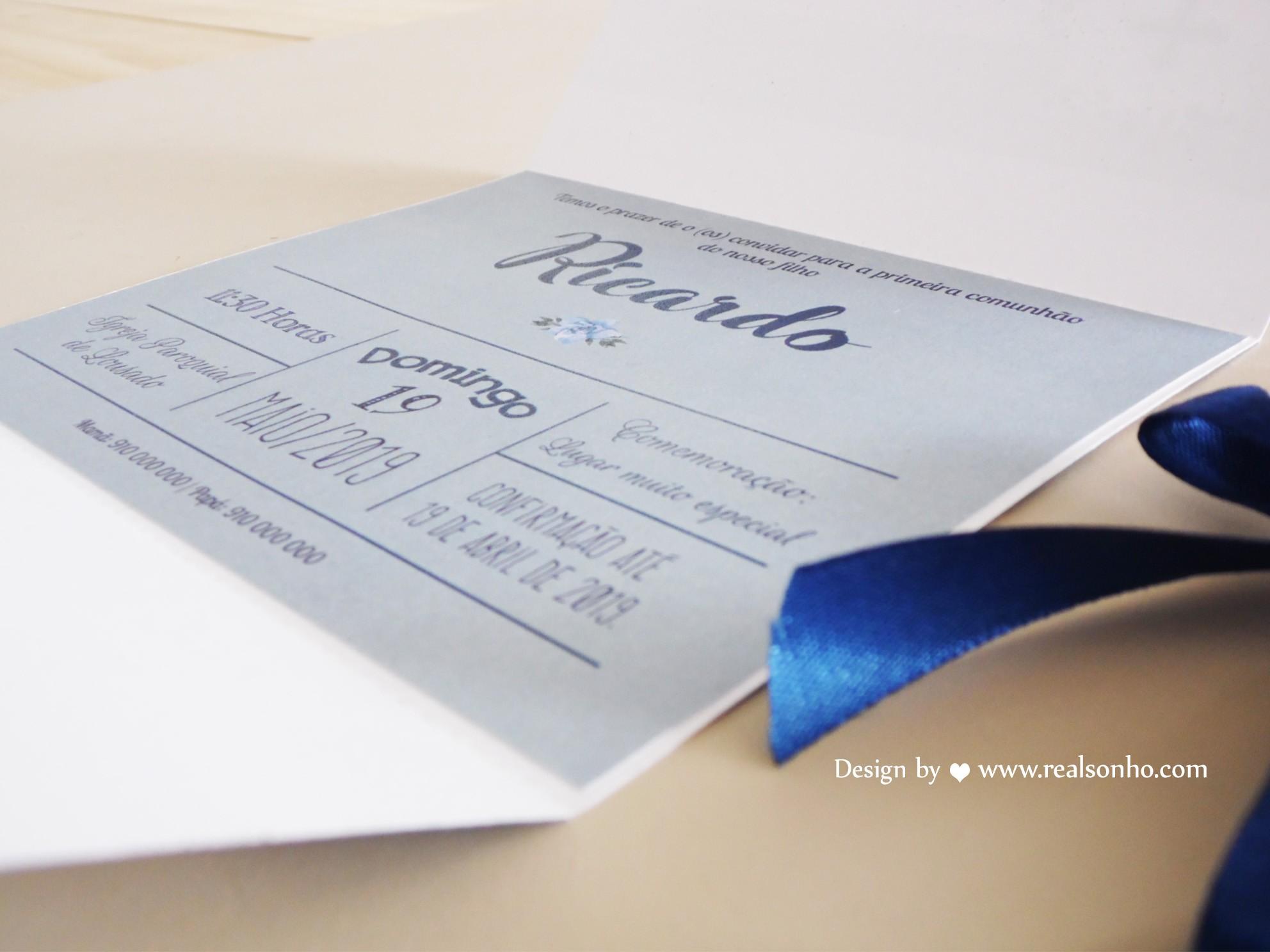 Convite de Comunhão (menino) CM-C036