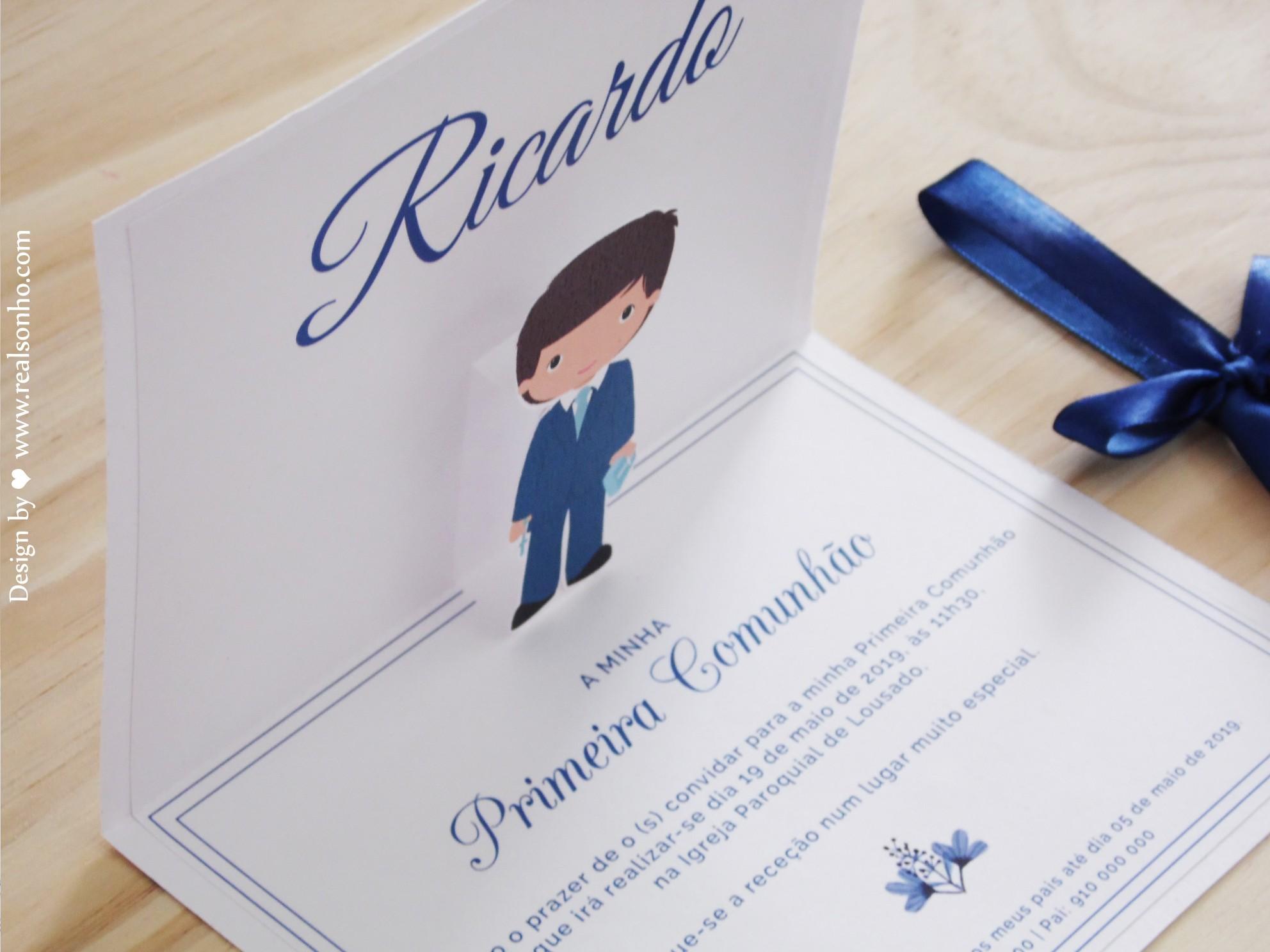 Convite de Comunhão (menino) CM-C019