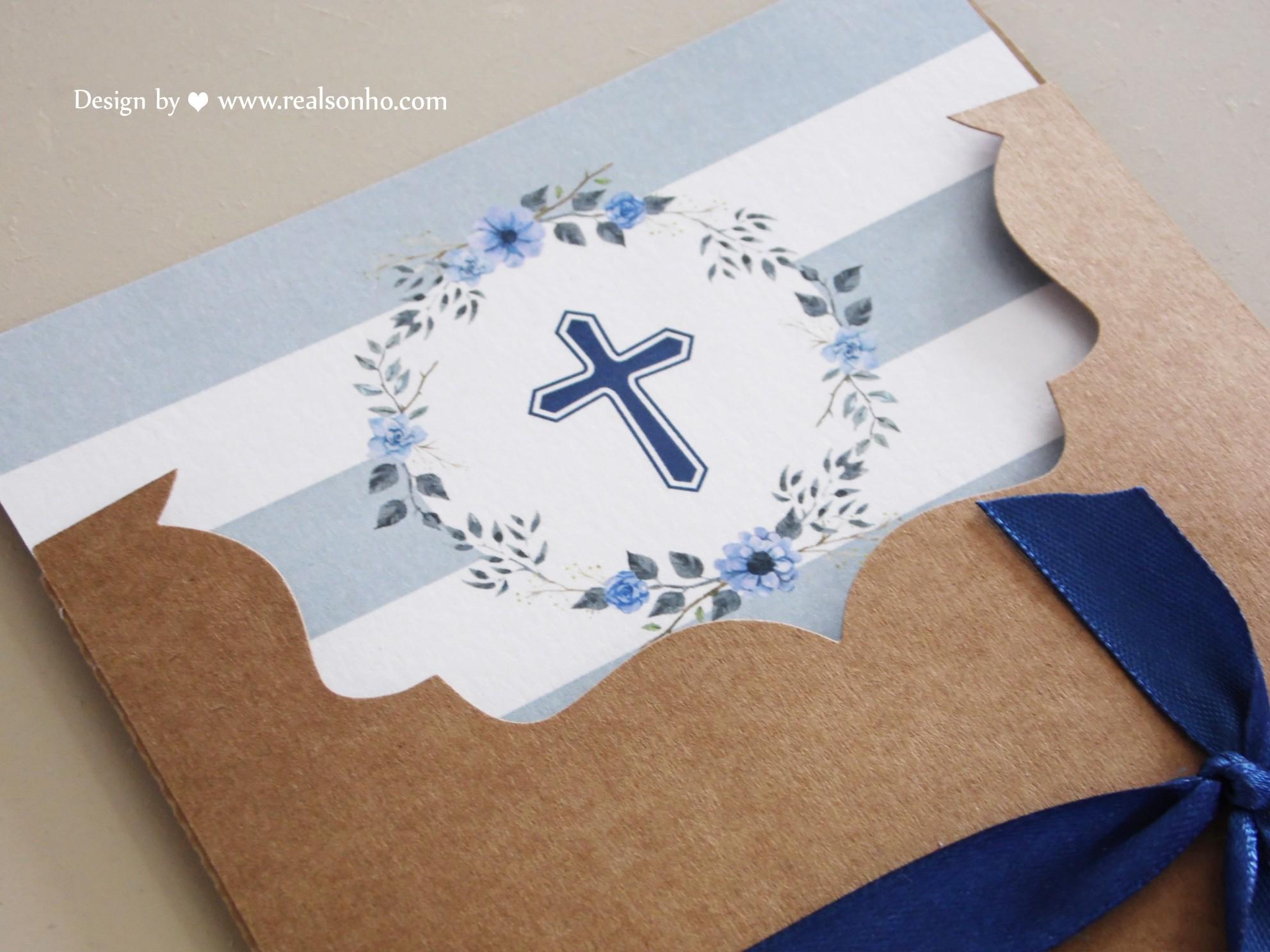 Convite de Comunhão (menino) CM-C035