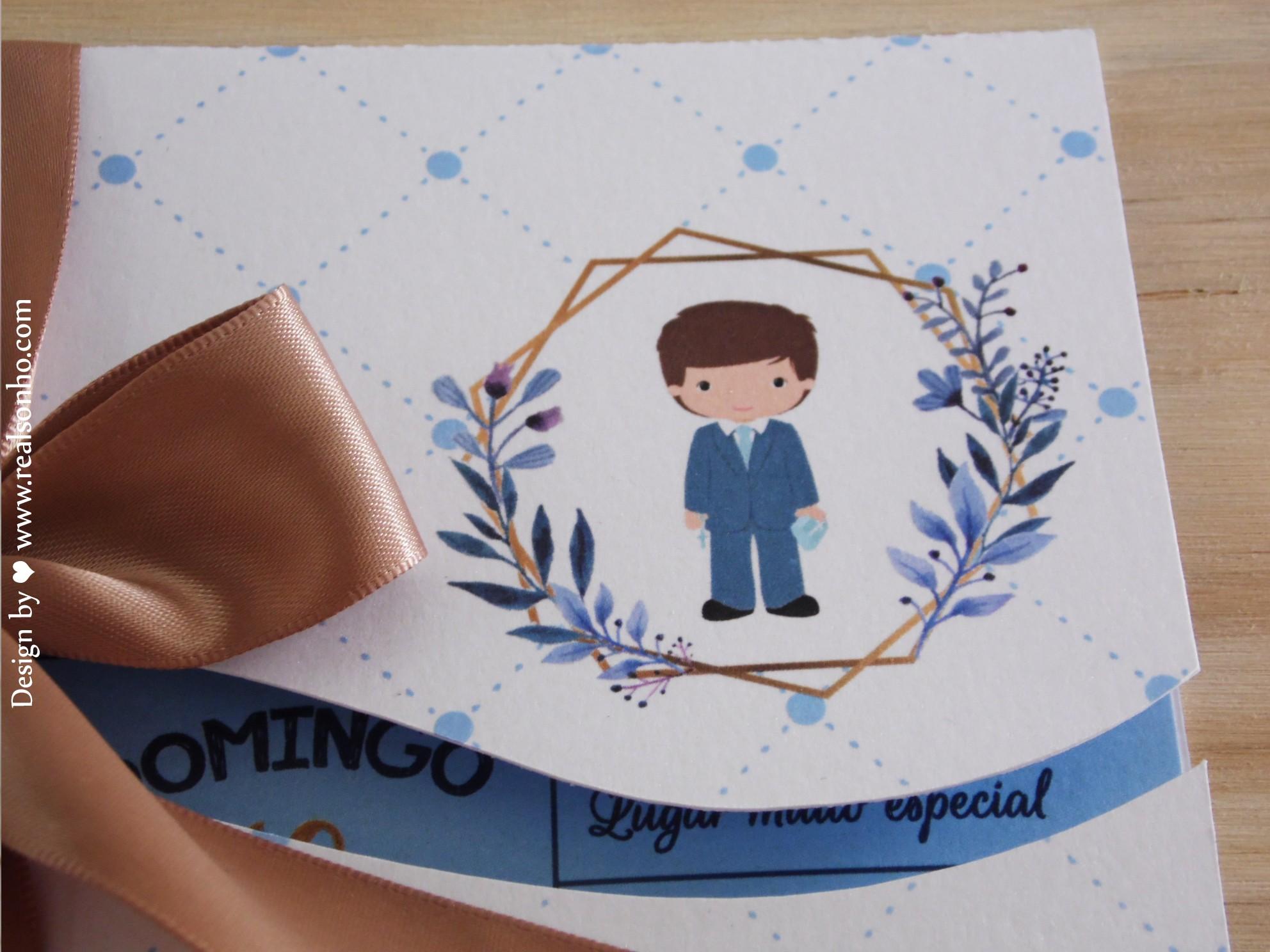 Convite de Comunhão (menino) CM-C027