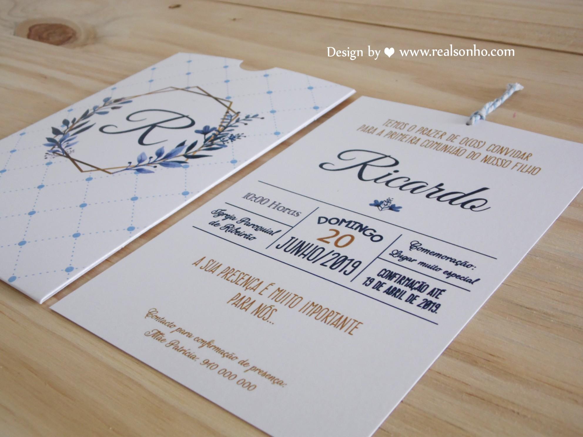 Convite de Comunhão (menino) CM-C040