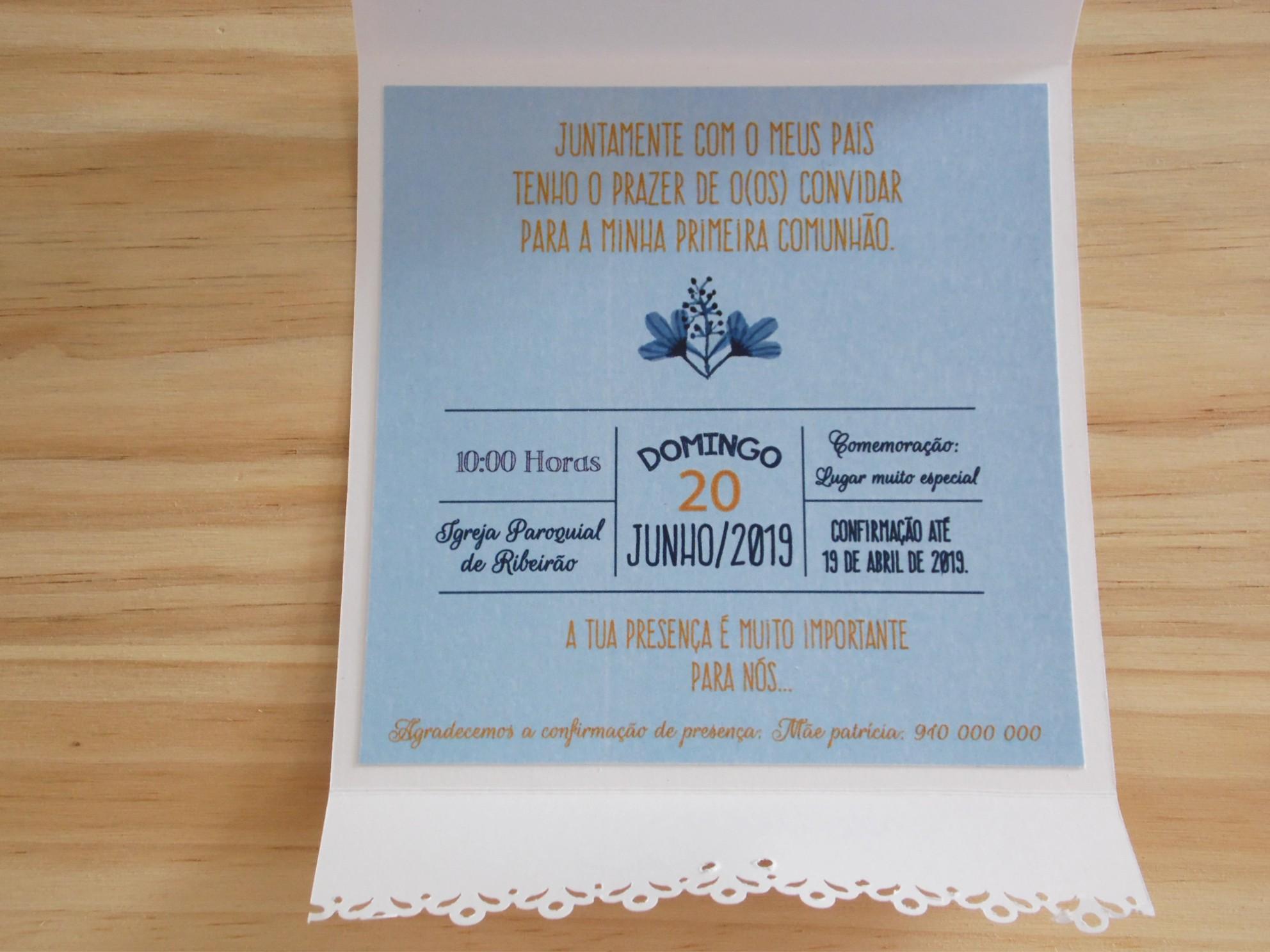 Convite de Comunhão (menino) CM-C034