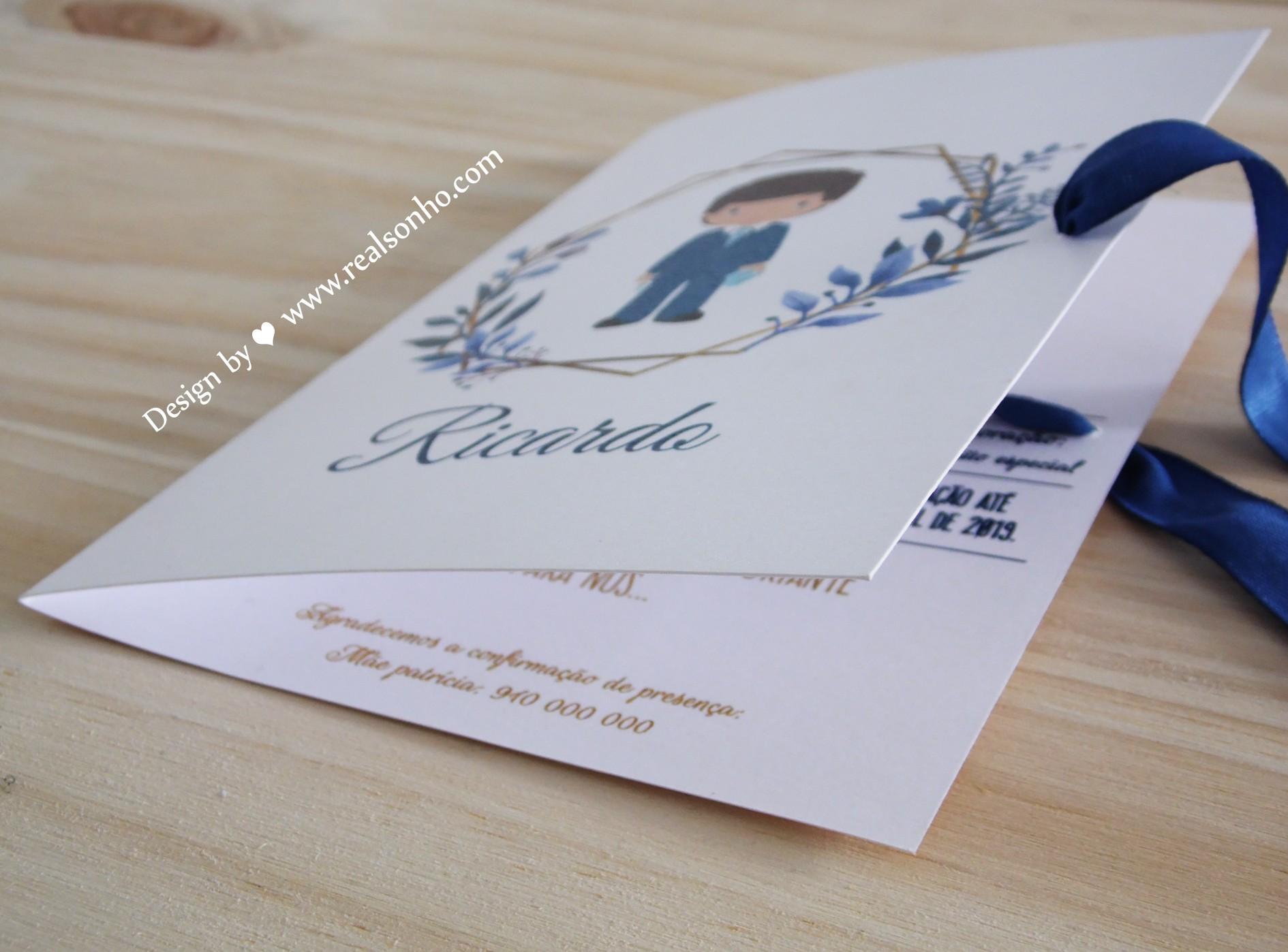Convite de Comunhão (menino) CM-C023
