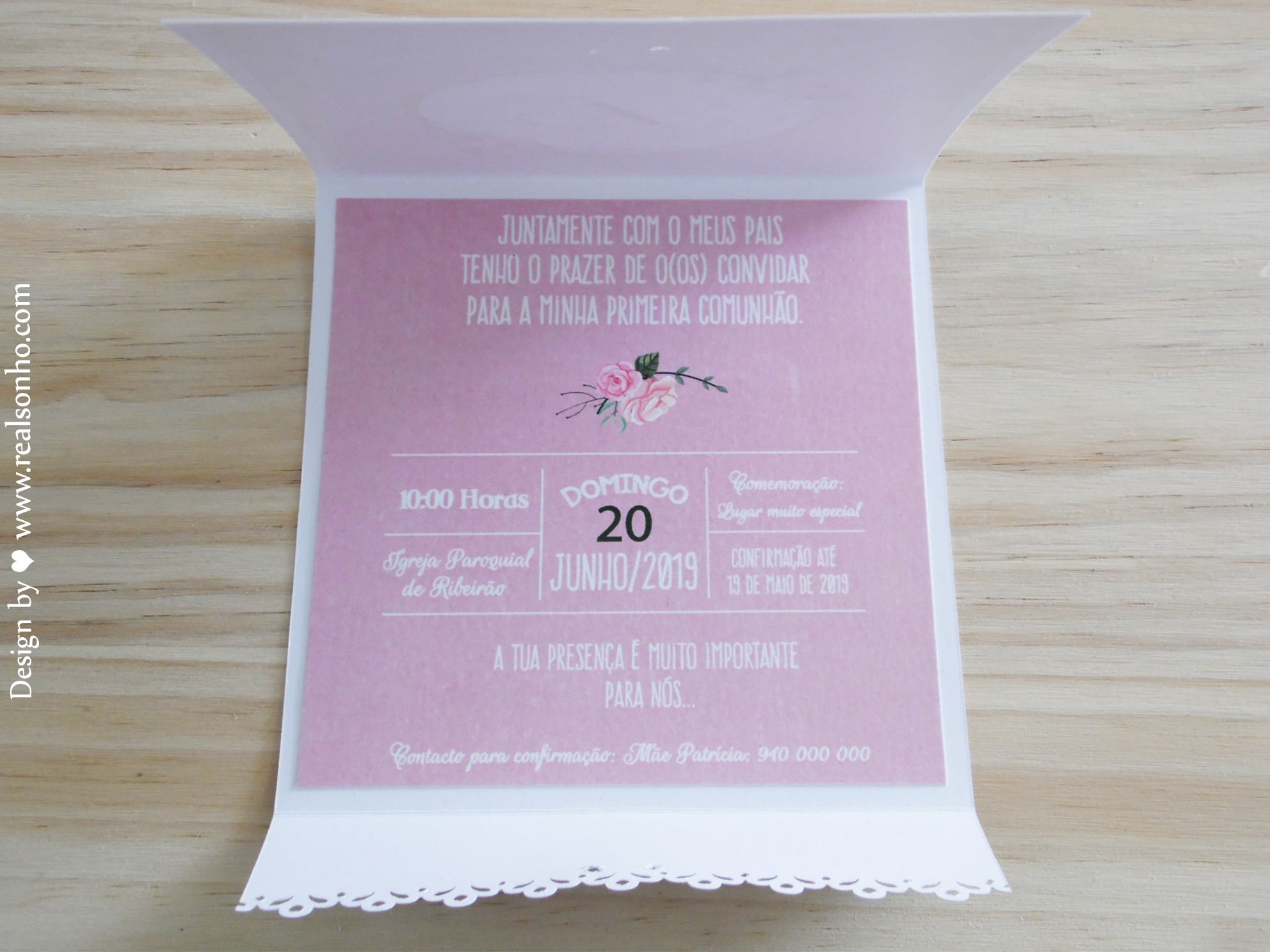 Convite de Comunhão (menina) CM-C030