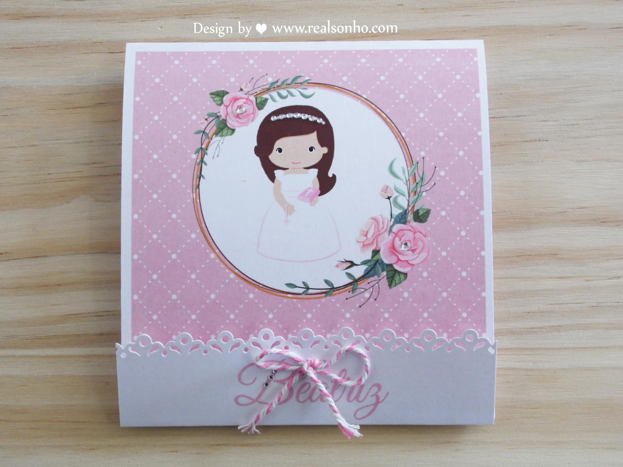 Convite de Comunhão (menina) CM-C031