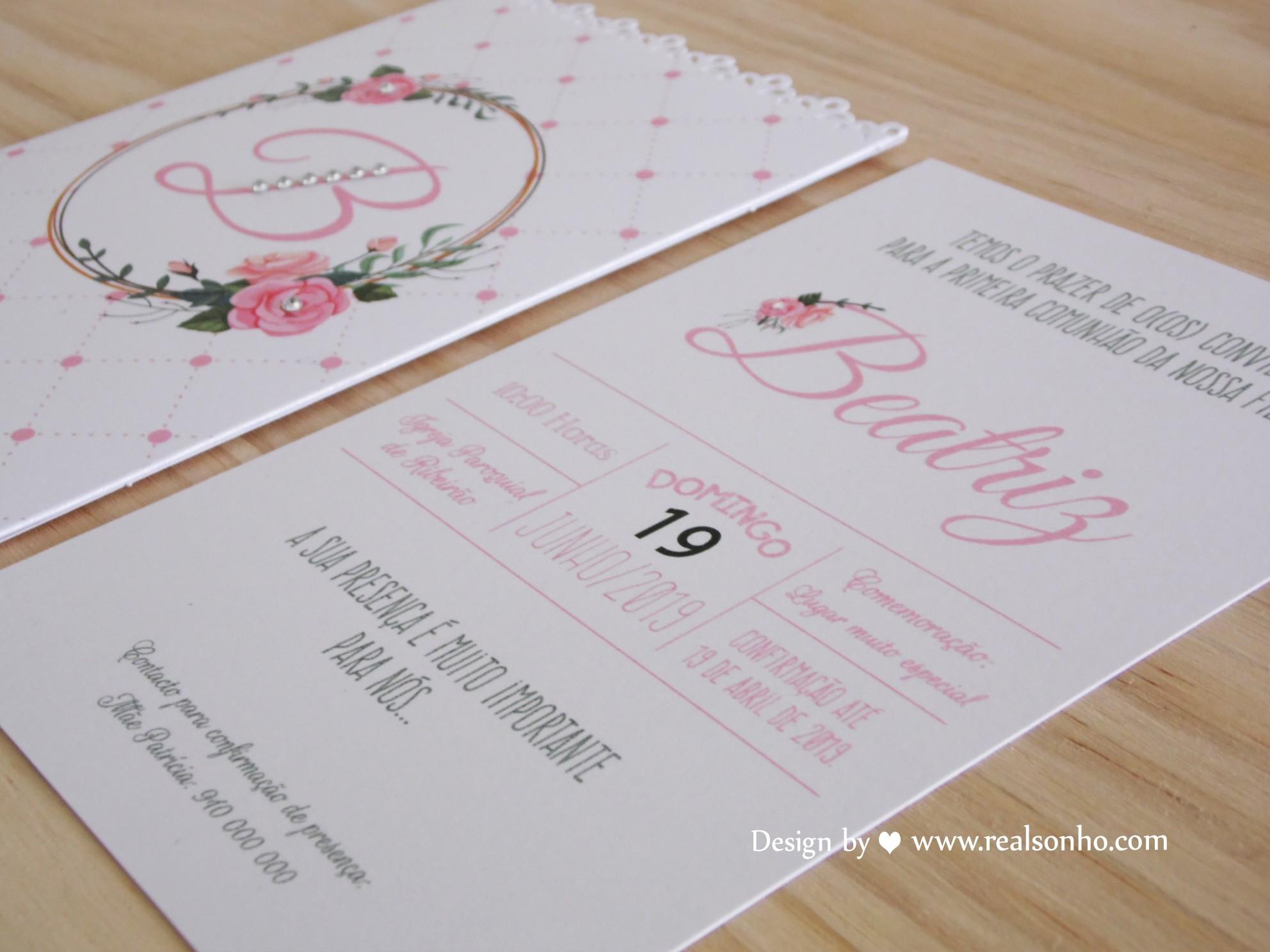 Convite de Comunhão (menina) CM-C042