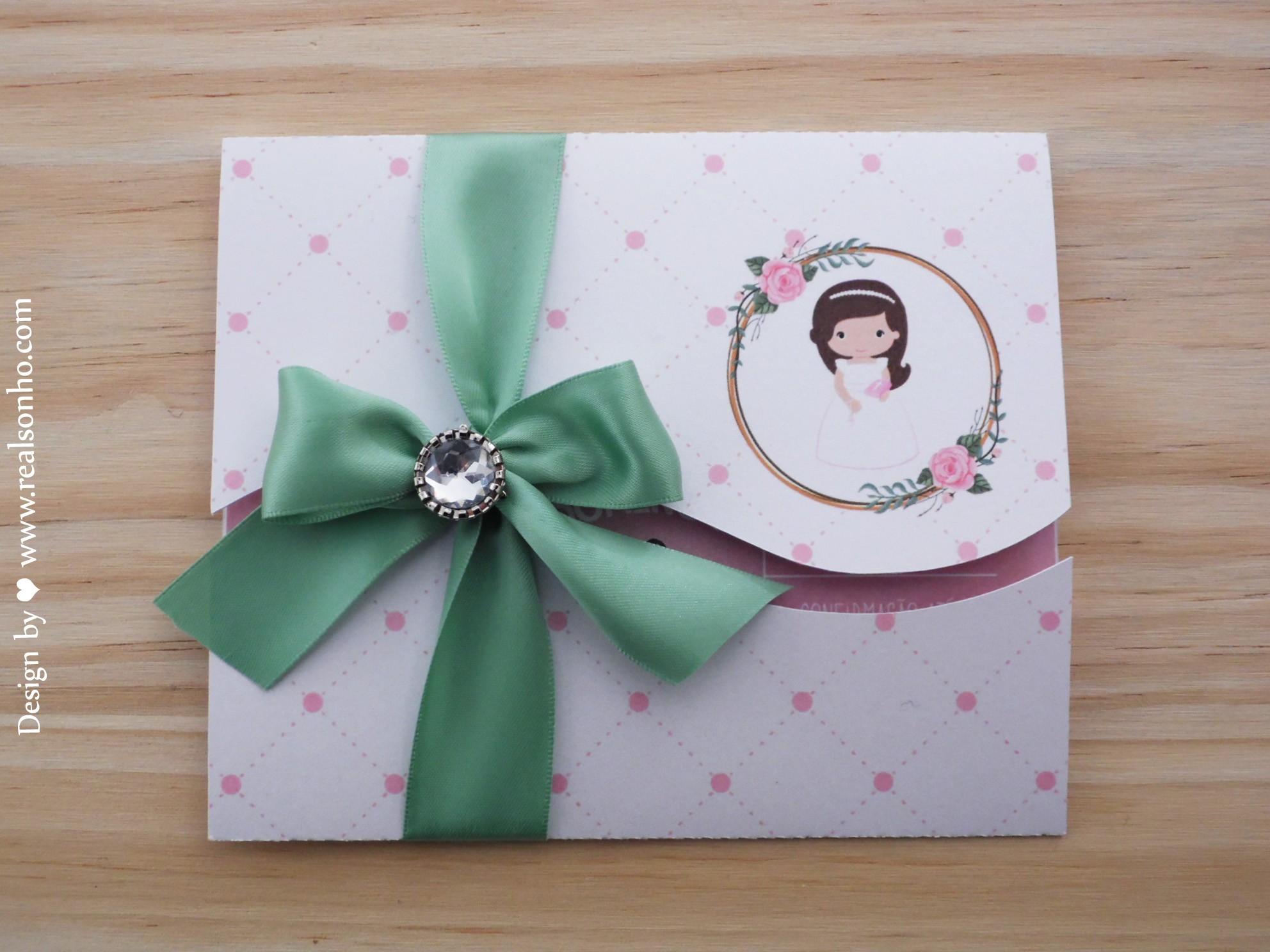 Convite de Comunhão (menina) CM-C028
