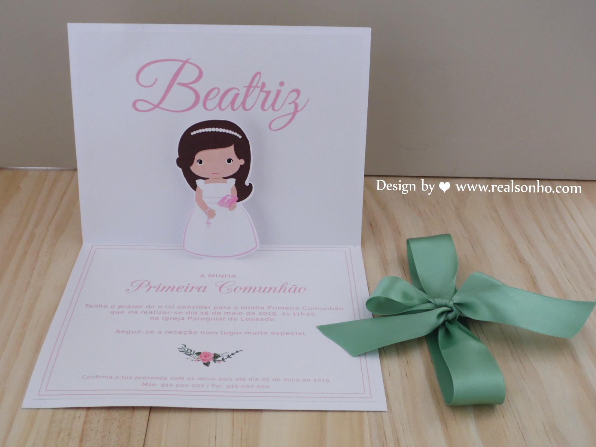 Convite de Comunhão (menina) CM-C020