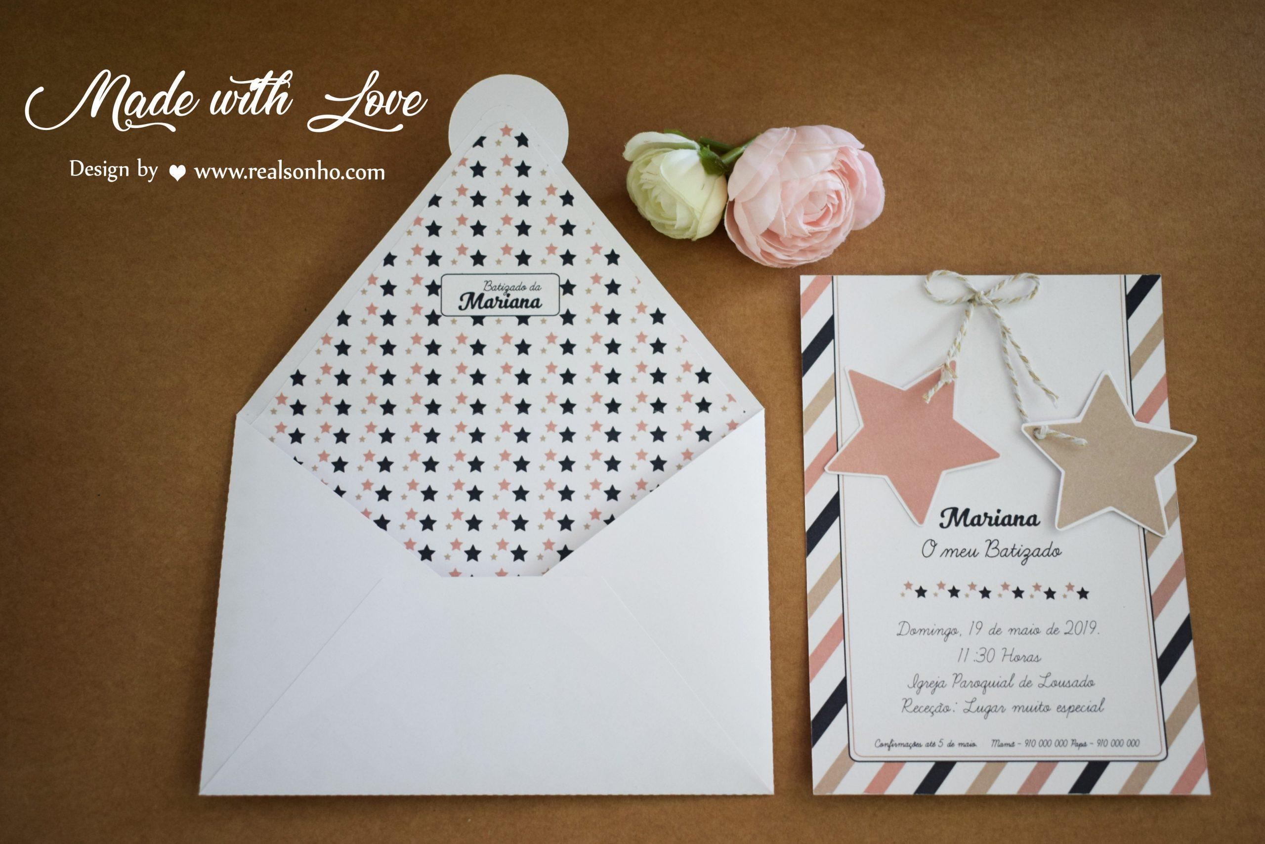 Convite de Batizado (menina) BT-C015