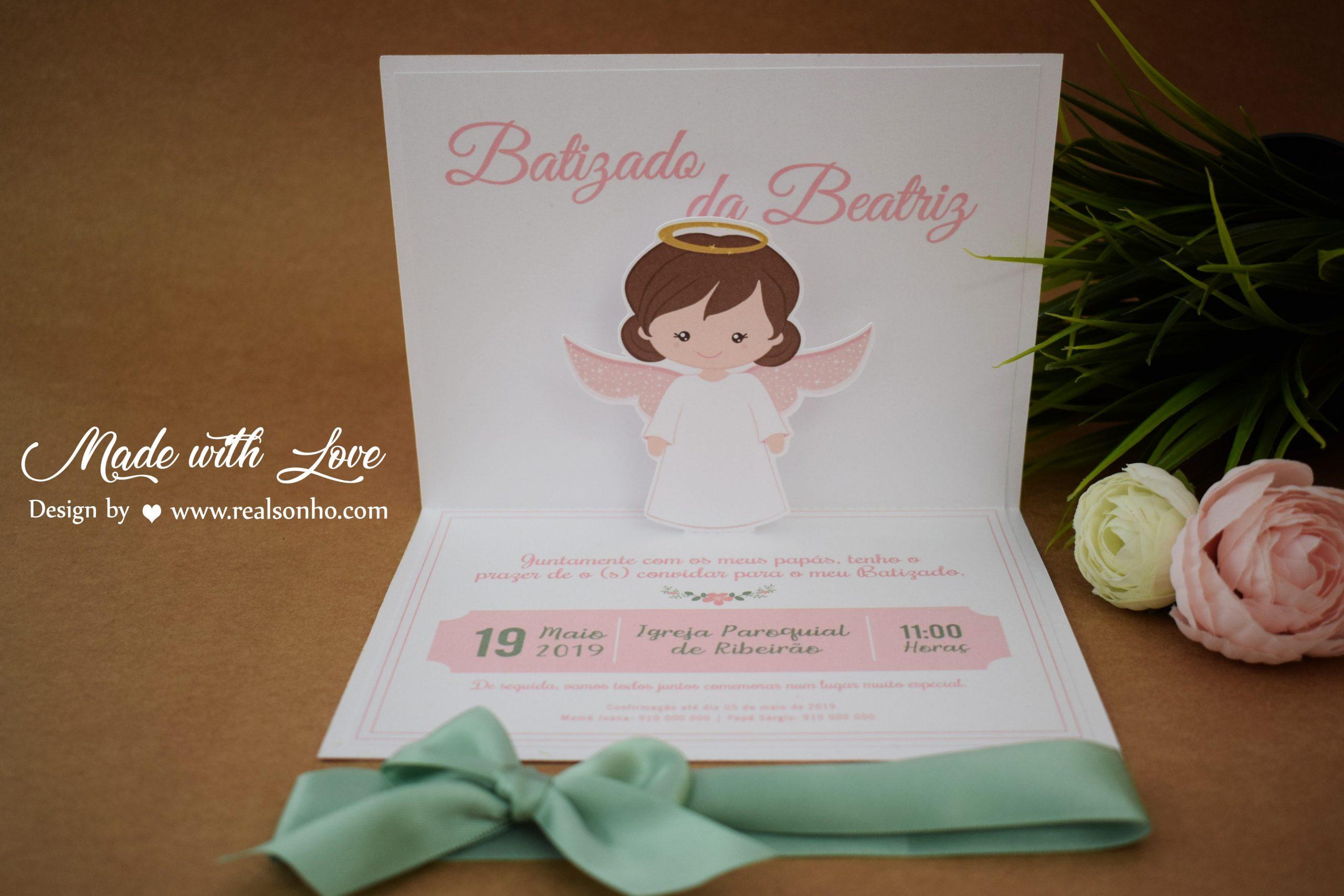 Convite de Batizado (menina) BT-C018