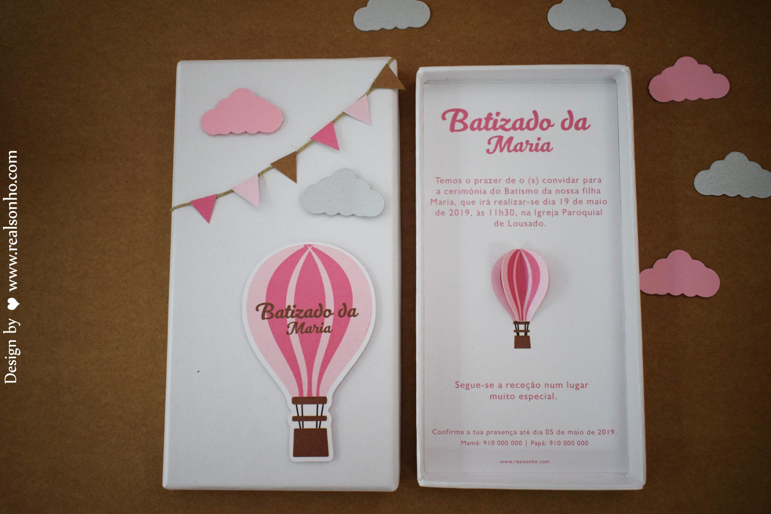 Convite de Batizado (menina) BT-C028