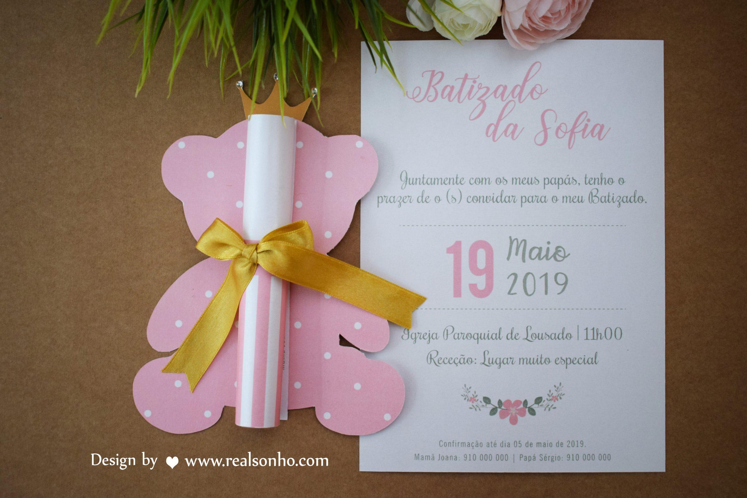 Convite de Batizado (menina) BT-C016