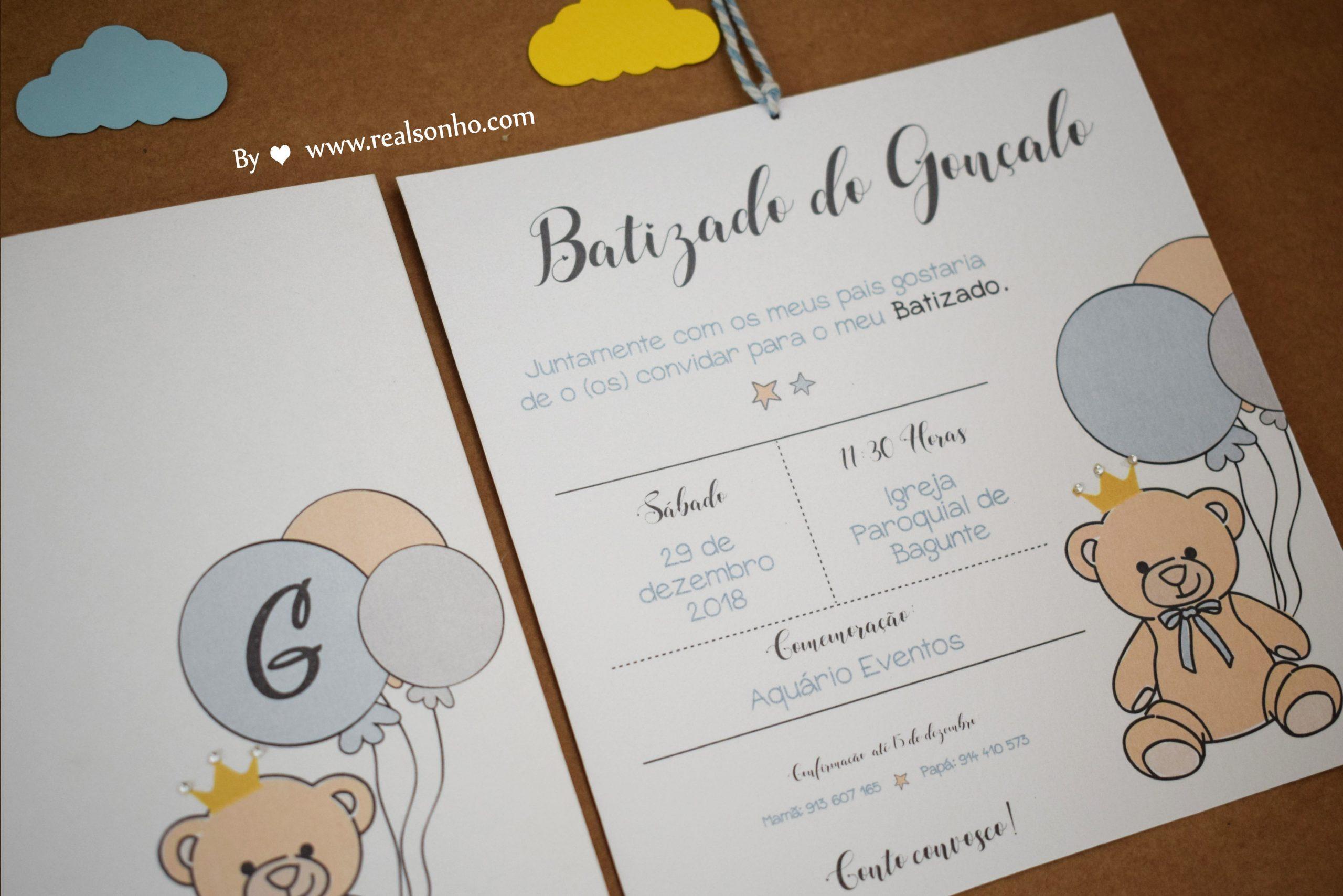 Convite de Batizado (menino) BT-C026