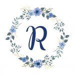 Coleção floral azul